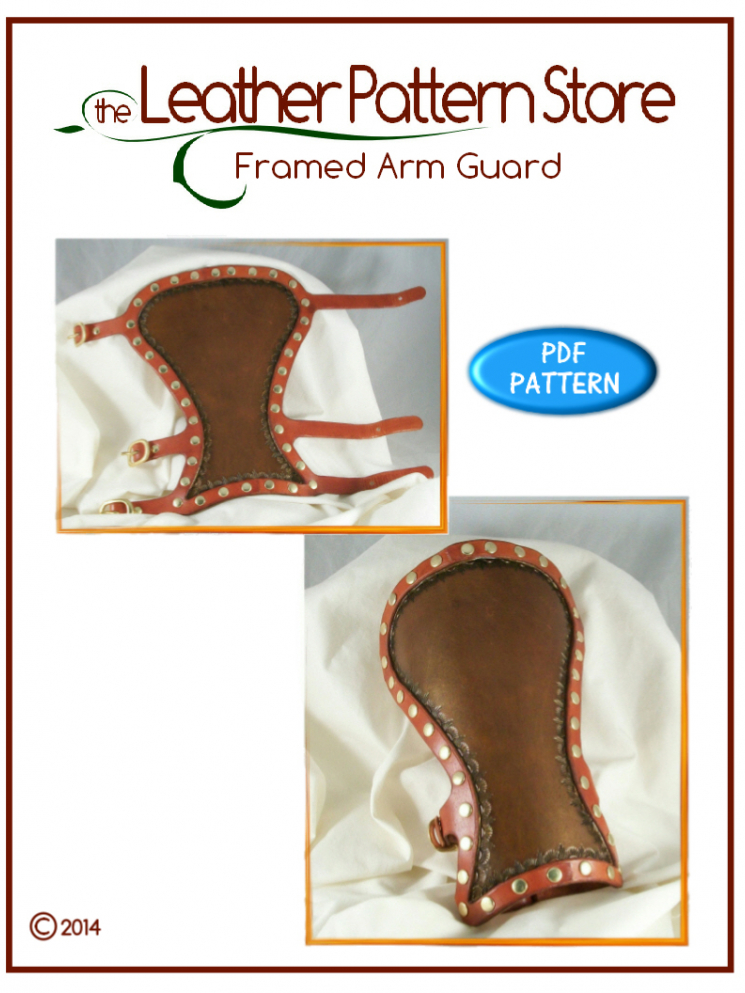 Framed Arm Guard - leather pattern