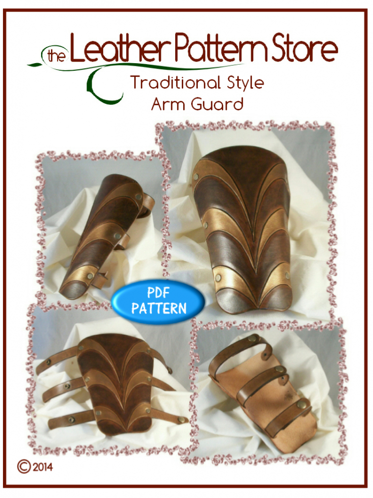 Traditional style Arm Guard - leather pattern