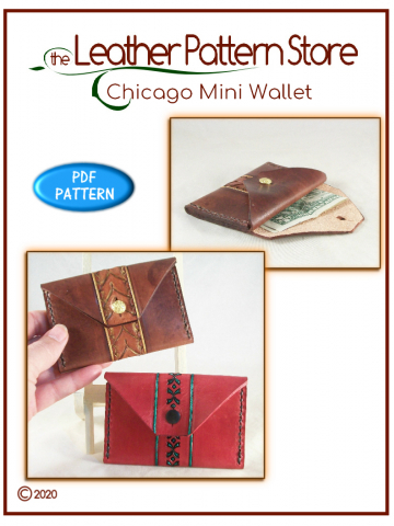 Chicago Mini Wallet - leathercraft pattern