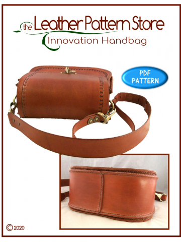 Innovation Handbag - '70s style leather pattern