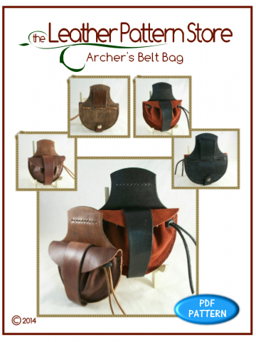 Archer's Belt Bag - leather pattern