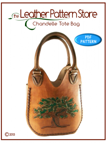 Chandelle Tote Bag - leather pattern