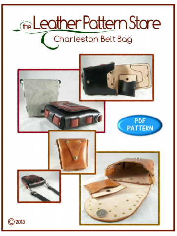 Charleston Belt Bag - leathercraft pattern