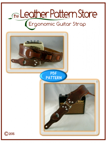 Ergonomic Guitar Strap - leathercraft pattern