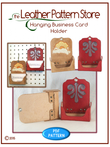 Hanging Business Card Holder - leather pattern
