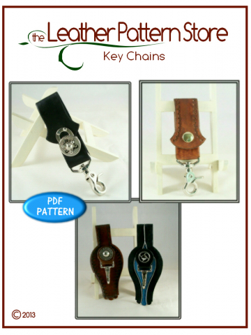 Key Chains - leather pattern