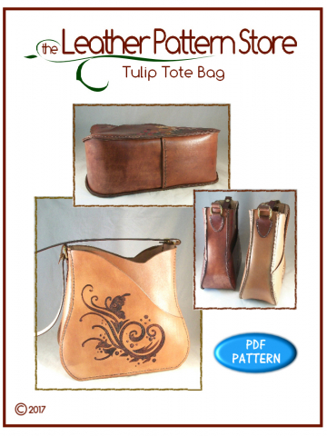 Tulip Tote Bag - digital leather pattern
