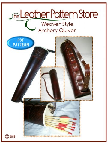 Weaver Style Archery Quiver - leathercraft pattern