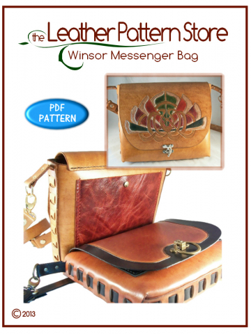 Winsor Messenger Bag - leathercraft pattern