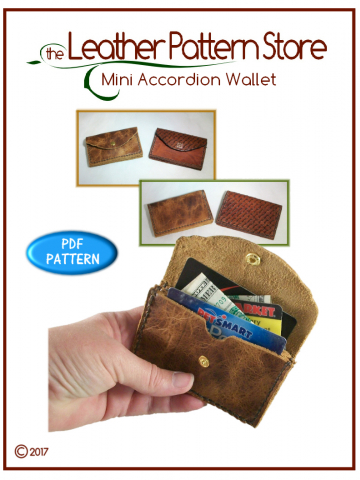 Mini Accordion Wallet - leathercraft pattern