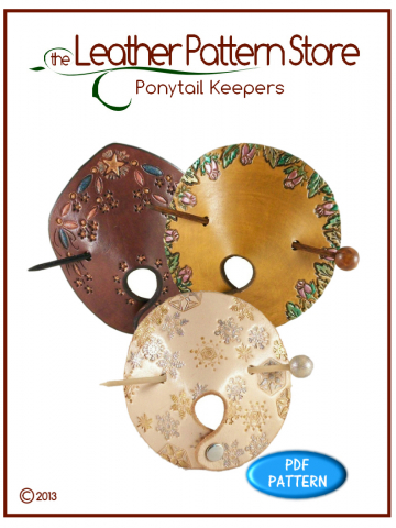 Ponytail Keepers - leathercraft pattern