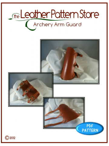 Archery Arm Guard - digital leathercraft pattern