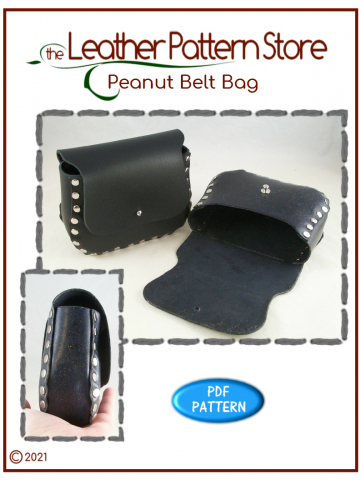 Peanut Belt Bag - Leathercraft pattern