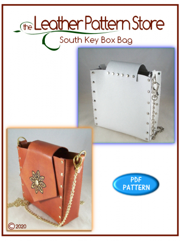 South Key Box Bag - leathercraft pattern