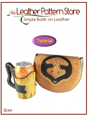 Simple Batik on Leather  - Pictorial Tutorial