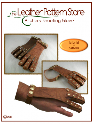 Archery Shooting Glove - tutorial plus pattern