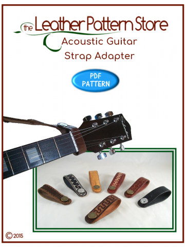 Acoustic Guitar Strap Adapter - leather pattern