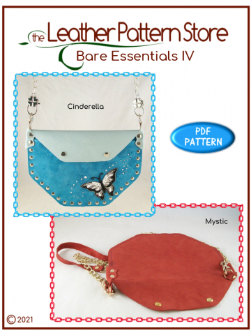 Bare Essentials IV - flat handbag leather pattern