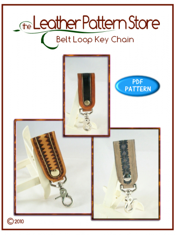 Belt Loop Key Chain - leather pattern
