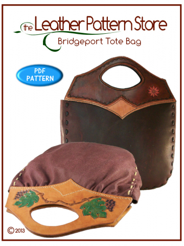 Bridgeport Tote Bag - leathercraft pattern