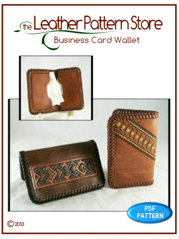 Business Card Wallet - digital leather pattern
