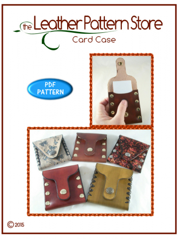 Card Case - digital leathercraft pattern