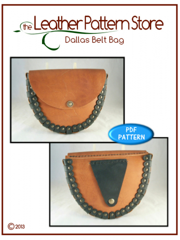 Dallas Belt Bag - leathercraft pattern