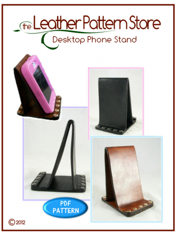 Desktop Phone Stand - digital leather pattern