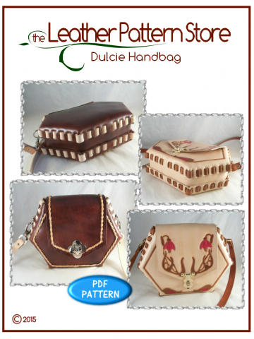 Dulcie Hexagon Handbag - leathercraft pattern
