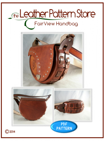 FairView Mother - Daughter Handbag set - digital leather pattern