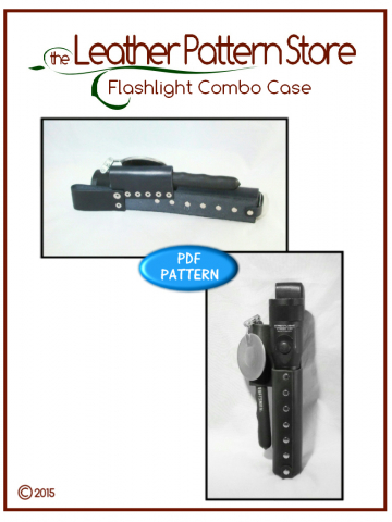 Flashlight Combo Case - leather template