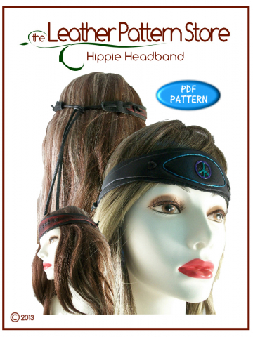 Hippie Headband - digital leathercraft pattern