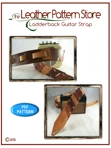 Ladderback Guitar Strap - digital leather pattern