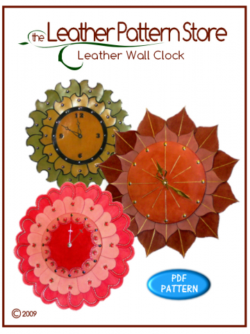 Leather Wall Clock - digital leathercraft pattern