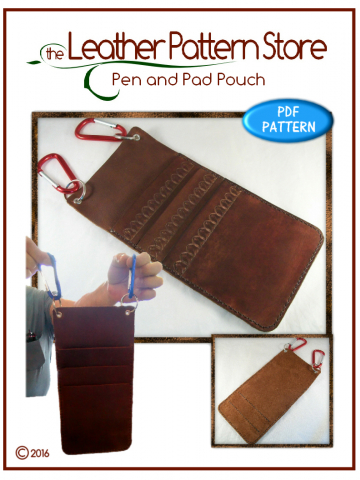 Pen and Pad Pouch - leathercraft pattern