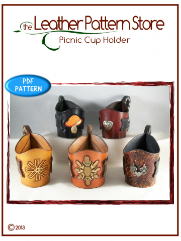 Picnic Cup Holder  - leathercraft pattern