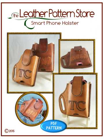 Smart Phone Holster - leathercraft pattern