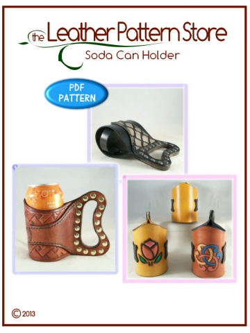 Soda Can Holder -  leathercraft pattern