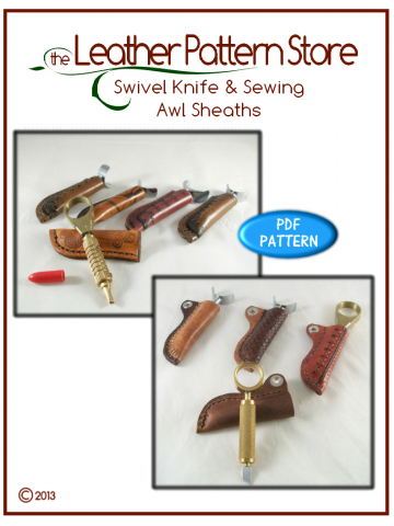 Swivel Knife & Sewing Awl Sheaths - leather patterns