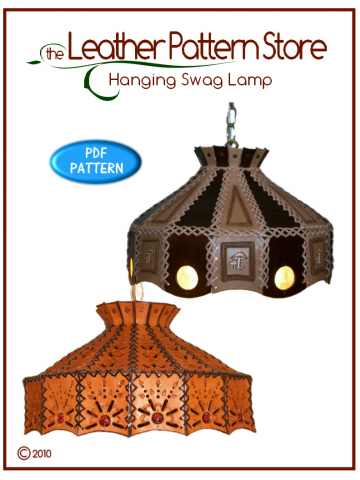 Hanging Swag Lamp - leathercraft pattern