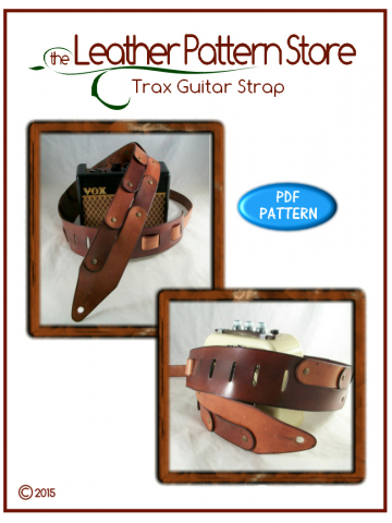 Trax Guitar Strap - digital leather pattern