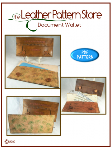 Document Wallet - digital leather pattern