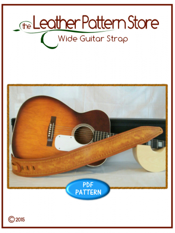 Wide Guitar Strap - leathercraft pattern
