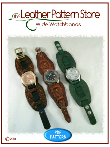 Wide Watchbands - leathercraft pattern