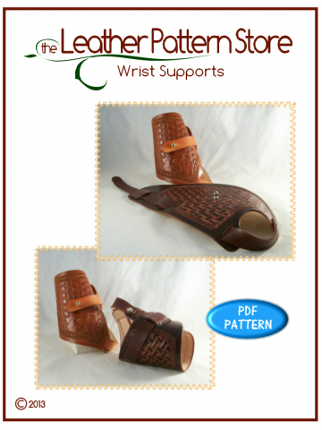 Wrist Support - leathercraft pattern