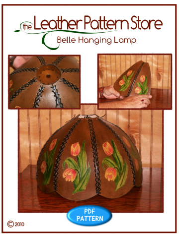 Belle Hanging Lamp - leathercraft pattern