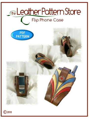Flip Phone Case - leather pattern