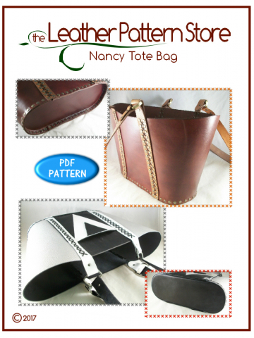Nancy Tote Bag - leathercraft pattern