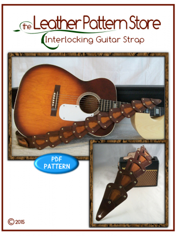 Interlocking Guitar Strap - digital leather pattern