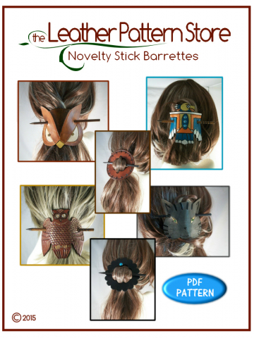 Novelty Stick Barrettes - leathercraft pattern